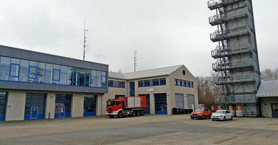 Die CDU-Kreistagsfraktion hat eine Machbarkeitsstudio zur Weiternetwickjlung des Standortes beantragt: die Rettungsleitstelle des Kreises Unna an der Florianstraße. (Foto: Max Rolke - Kreis Unna)
