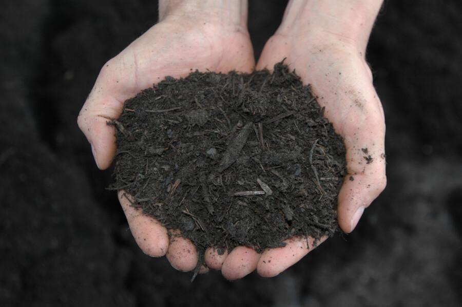 """Das """"Gold des Gärtners"""" wird Kompost auch genannt. Kompost ersetzt Torf und zugekaufte Düngemittel fast gänzlich. Für alle, die keinen auisreichenden Kompost aus dem eigenen garten haben, bietet die GWA den Grünschnitt-Kompost """"Lumbricus"""" an. (Foto: GWA Kreis Unna)"""