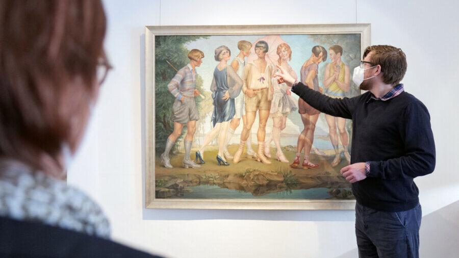 Einlass nur mit Termin: Die neue Ausstellung im Museum Haus Opherdicke öffnet nun auch analog und kann vor Ort besucht werden. Foto: Fabiana Regino - Kreis Unna