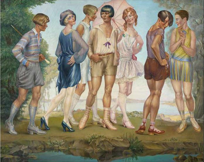 Models vor dem Ammersee, um 1930, Öl auf Leinwand und stattliche 121 x 151 cm groß. (Bild: Sasa Fuis, Van Ham Kunstauktionen, Museum Haus Opherdicke)
