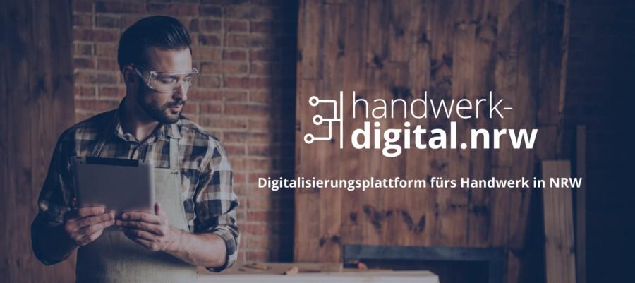 Eine neue Plattform im Intrnet bietet Tipps rund um das Thema Digitalisierung für Handwerksbetriebe in ganz NRW- (Foto: Roman Samborskyi / handwerk-digital.nrw/ Shutterstock.com)