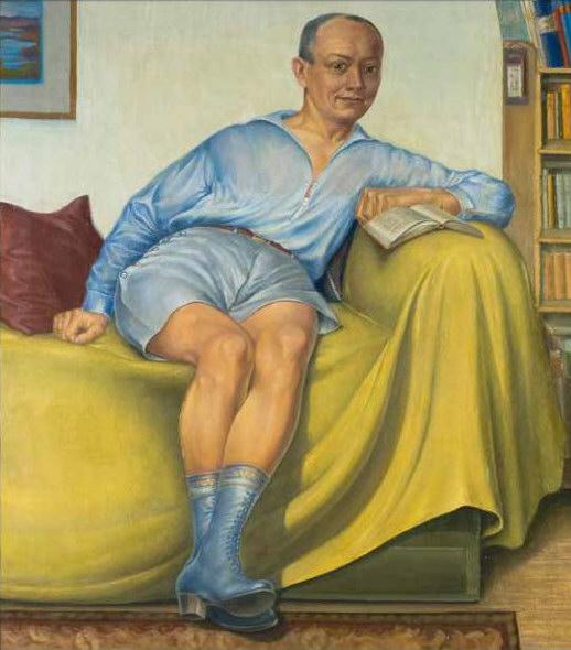 """Er hat sich nicht oft selbst gemalt: """"Selbstbildnis im St. Georgener Atelier"""" 1930, Öl auf Leinwand (Bild: Schwules Museum Berlin, Museum Haus Opherdicke)"""
