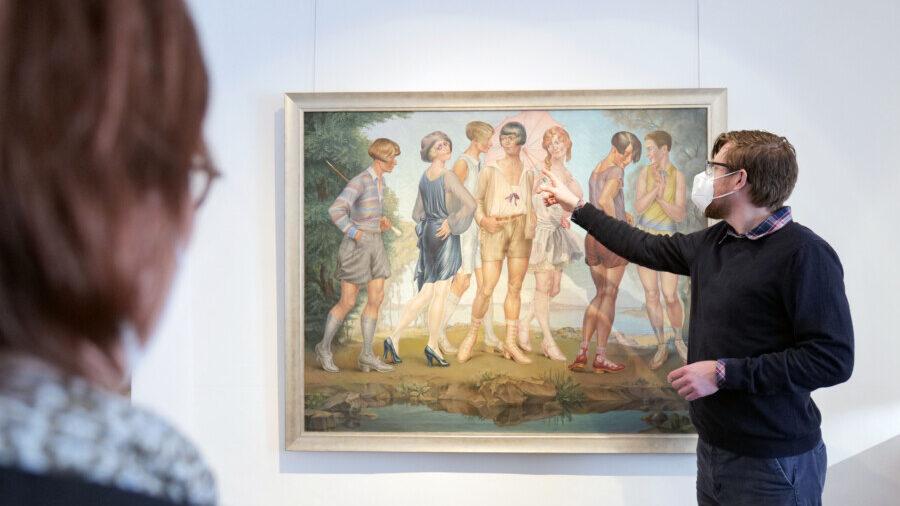 Einlass nur mit Termin: Die neue Ausstellung im Museum Haus Opherdicke kann wieder vor Ort besucht werden. (Foto: Kreis Unna)