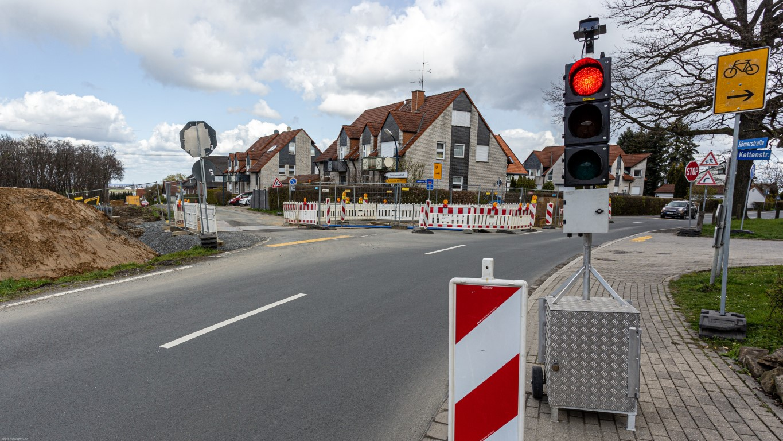 Bau des Radweges hat begonnen: Landskroner Straße bleibt noch bis nächstes Jahr gesperrt