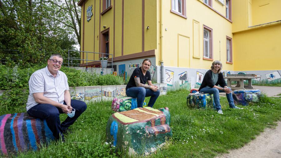 Bekannte Gesichter in neuer Funktion: Kreisjugendpfleger Klaus Faß (li.) mit Marco Stützer und Kerstin Dreisbach-Dirb. (Foto: P.Gräber – Emscherblog)
