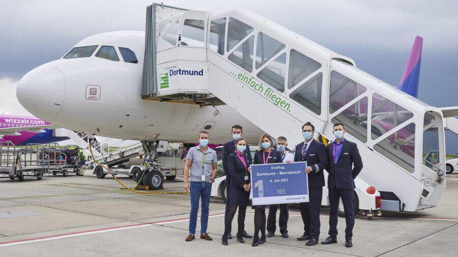 Wizz Air fliegt ab sofort zweimal wöchentlich von Dortmund nach Marokko: Erstflug nach Marrakesch am 4. Juli. (Foto: Dortmund Airport)