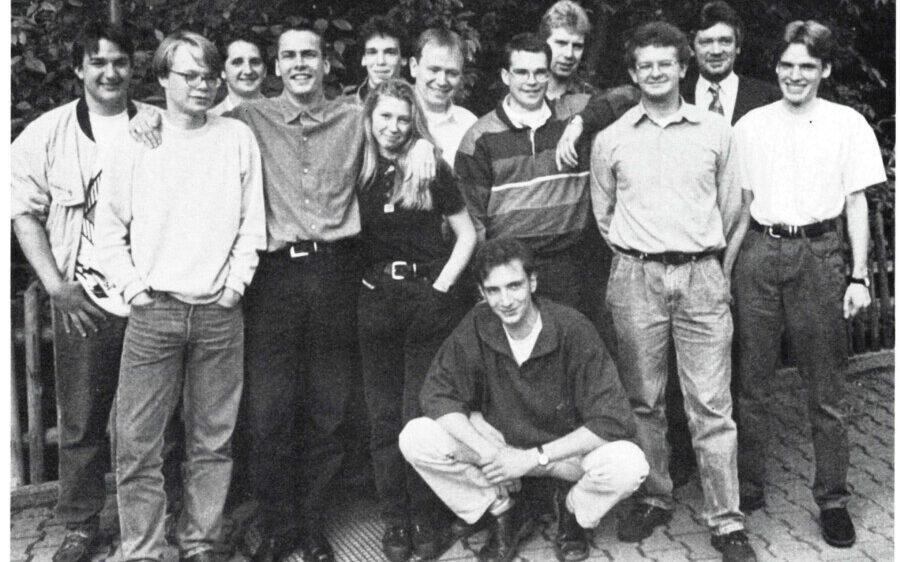 Die Junge Union Holzwickede Anfang der 90er-Jahre. (Foto: Bürger-Info / CDU)