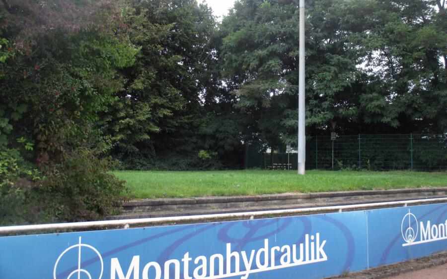 Diese Fläche im westlichen Bereich des Stadions wird von den HSC-Verantwortlichen für den den Outdoor-Sportpark favorisiert. Der Standort hinter der Tribüne wird als ungeeignet erachtet.  (Foto: privat)