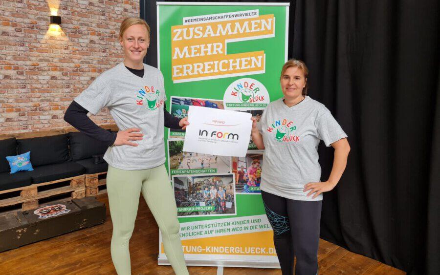 Stiftung Kinderglück - KiTaletics - InForm. v.l. Sarah Krispin (Projektleitung), Christina Häusler (Programmkoordination) (Foto: Stiftung Kinderglück)
